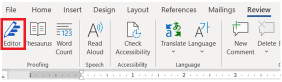 microsoft word review panel
