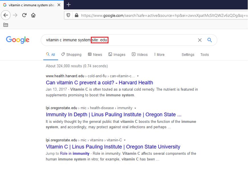 google search tips -- fancy comma blog