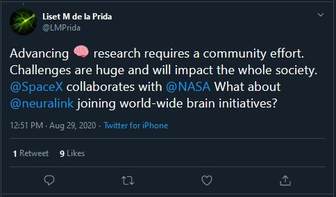 open science and neuralink tweet