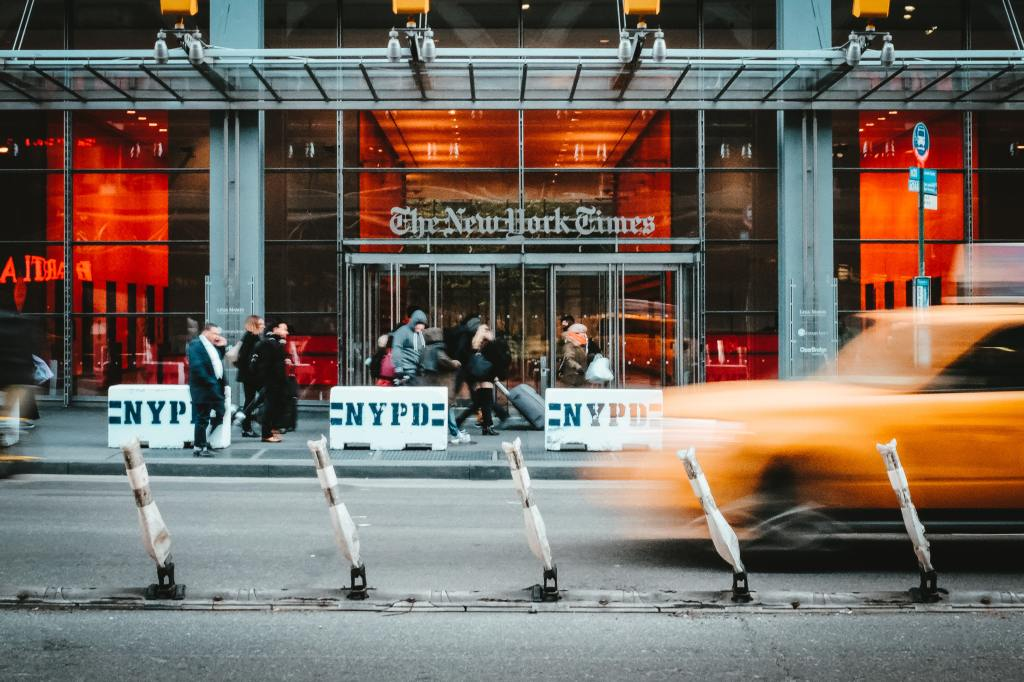 photo of the new york times headquarters