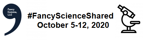 the logo for #fancyscienceshared 2020
