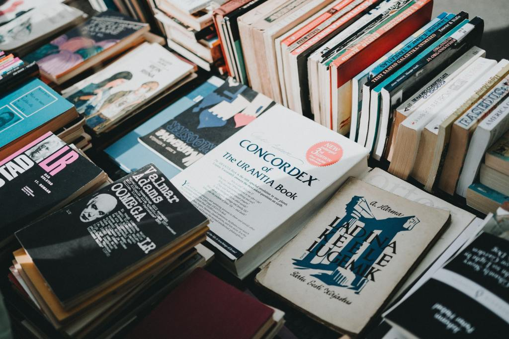 photos of books on a table