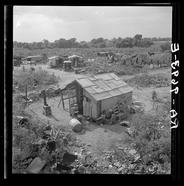 photo of a Hooverville in Elm Grove, Oklahoma County, OK