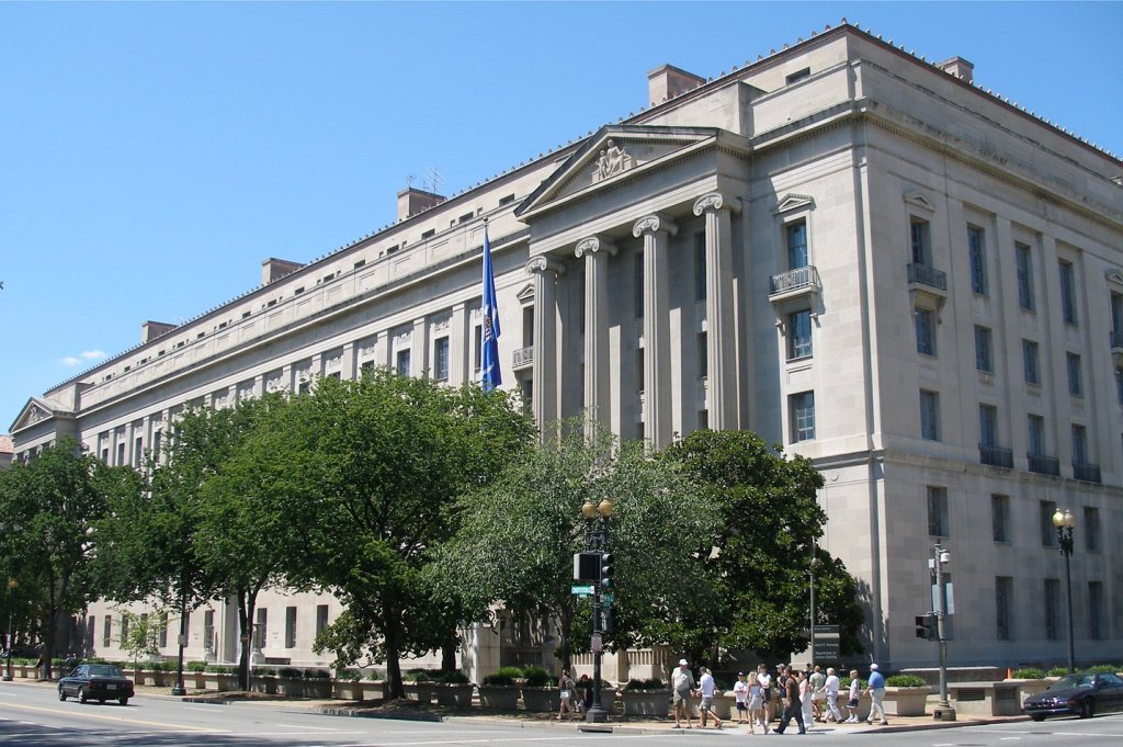 photo of the department of justice headquarters in washington, dc